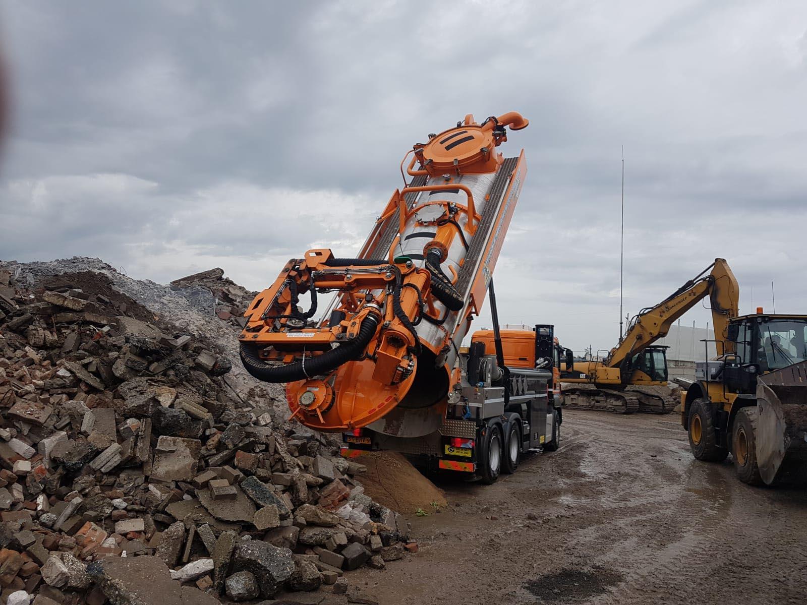 bodemsanering grondzuigwagen