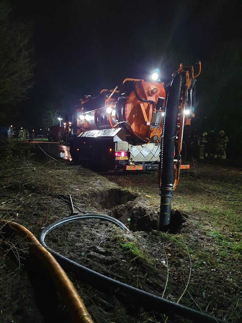 calamiteiten grondzuigwagen